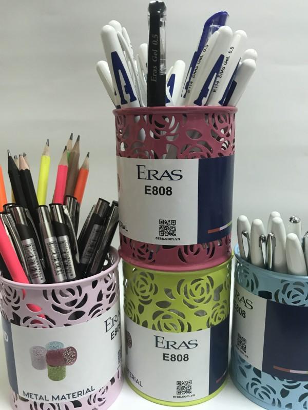 Cốc cắm bút Eras lưới hoa E808